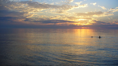 Sunset on Lake Michigan August 2007