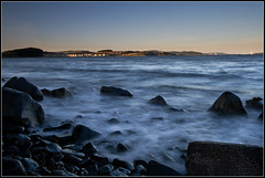 Soft Sea (Ally Mac) Tags: longexposure sea water rock stone pier rocks waves stones smooth pebbles pebble polarizer silky cpl crashing firthofforth northqueensferry pl longexposures nd8 nqueesnferry