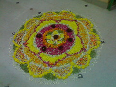 Onam pookalam (raj_nair81) Tags: flowers india beautiful office south decoration chennai kalam onam kolam malayali pookolam