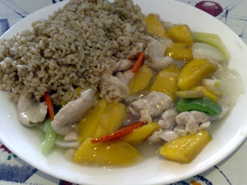 Mango Chicken with Brown Rice