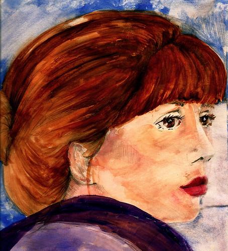 pencil & watercolor portrait