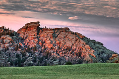 Glowing Vedauwoo Rock Formations (Fort Photo) Tags: sunset cliff mountains nature rock landscape bravo rocks rosa wyoming roccia rocce soe hdr 2007 wy vedauwoo naturesfinest medicinebownationalforest abigfave ultimateshot onlythebestare offwidths