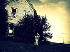 (bellydnce1103) Tags: house selfportrait abandoned girl illinois freeport