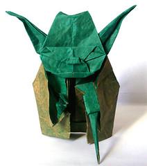 Jedi master yoda (MarsMalo) Tags: star origami master jedi wars papier soie maitre laque yode kawahata fumiaki