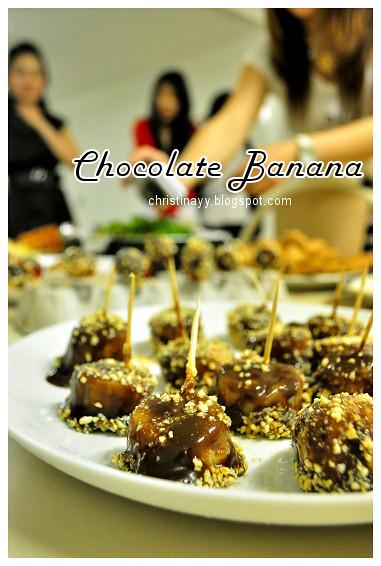 Shaine's Farewell Dinner: Chocolate Dipped Banana