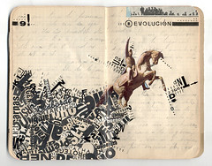 _revolucin#9 (javier.:.vzquez) Tags: old collage paper design artwork graphic handmade cut collages paste glue sketchbook manual papel javier libreta diseo grfico grafico experimento letraset gestual cuaderno vzquez pegar tipofgrafa revolucion9