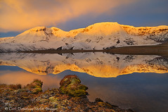 Mt. Jarvis, Wrangell - St. Elias National Park and Preserve, Alaska. (Skolai-Images) Tags: horizontals carldonohueskolaiimagesalaskawrangellsteliasnationalparkpreservemountainsfallautumncolorstundradawnsunrisesalpenglowhorizontal