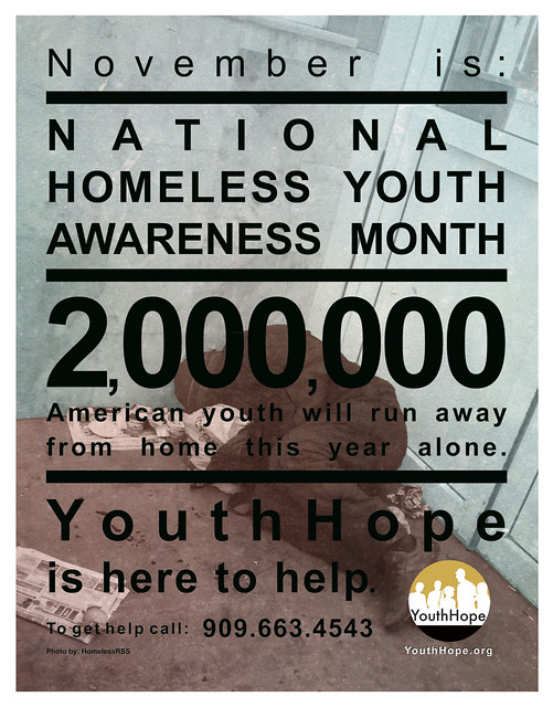 National Homeless Youth Awareness Month Print 3