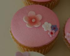 Cupcakes con flores para Carla