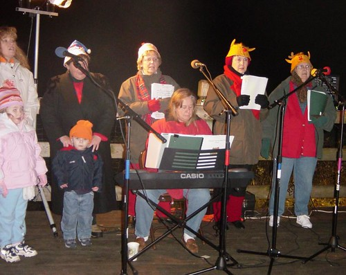 Community groups and churches perform during the Lighting of the Tunnel