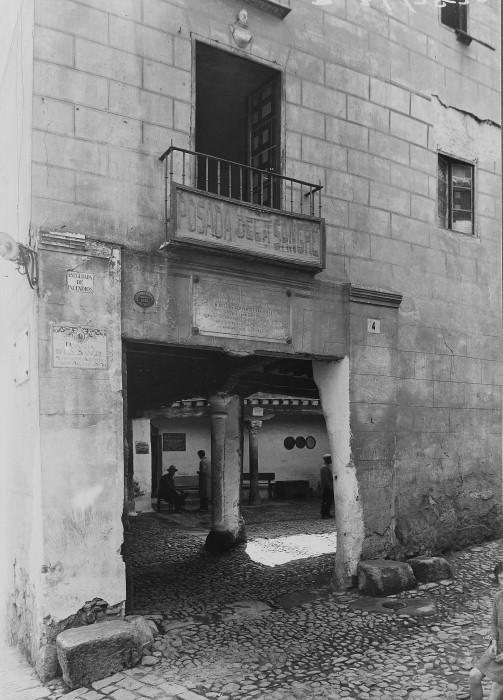 Posada de la Sangre de Toledo a comienzos del siglo XX. Courtauld Institute of Art.