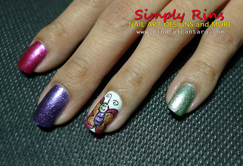 Nail Art Caronia Butterfly 08