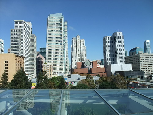SFO Day 2: View of the San Francisco Skyline from the Roof of the Metreon