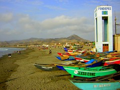 Fishing boats at Cerro Azul