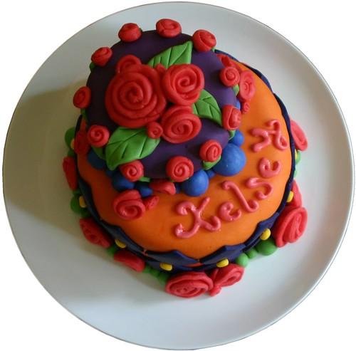 Whimsical Fondant Cake - Top