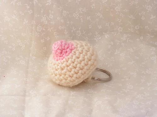 Boob Keychain Pattern By Lydia The Strange Adult Crochet