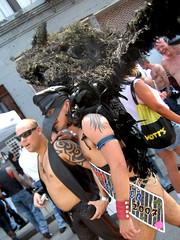 Avian Costume (jase (iilgemini)) Tags: street newyorkcity shirtless man men leather tattoo folsom fair east 2007