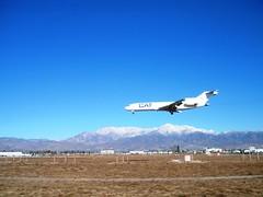Ontario, CA (47) (Herb In Hawaii) Tags: california blue sky usa ontario airport sunny planes northamerica herb flyover