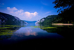 Beautiful Danube 1 (variation) (Miodrag mitja Bogdanovic) Tags: park blue green nature water river landscape europe small serbia canyon east national gorge mali gorges danube kazan donau srbija mitja dunav miodrag bogdanovic djerdap djerdapska klisura worldthroughlens worldthroughlenscom beautifuldanube
