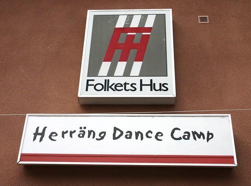 Herrang Dance Camp sign