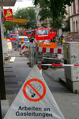 Gasaustritt Oranienstraße 27.07.07