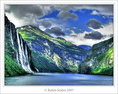 Waterfall and fiords (*atrium09) Tags: travel water norway landscape waterfall agua bravo paisaje olympus noruega fjord fiord hdr fiordo cascada patrimoniomundial patrimoniodelahumanidad photomatix supershot atrium09 anawesomeshot colorphotoaward 200750plusfaves goldenphotographer diamondclassphotographer rubenseabra thegoldenmermaid thegardenofzen