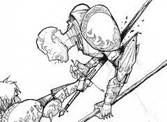Estocada (Jugo de Naranjo) Tags: killing drawing medieval muerte sword knight dibujo espada caballero estocada