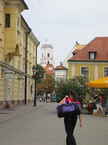 Pedestrian area in Gyor