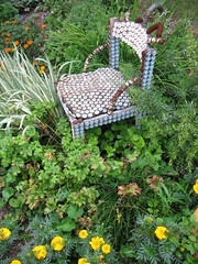 "Melissa's ""Bottle Cap"" Chair (Pandorea...) Tags: art garden chair folk outsider bottlecap avantgarden invited"