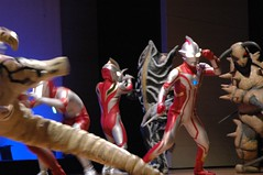 The stage is overrun with monsters and heroes