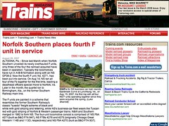 Published! (Luke Sharrett) Tags: wire published ns norfolksouthern funits lukesharrett newswire trainsmagazine