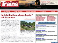 Published! (Luke Sharrett) Tags: wire published ns norfolksouthern funits lukesharrett newswire trainsmagazine