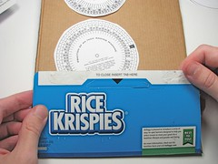 Thin corrugated -- from cereal box