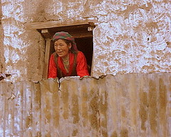 Curious Tibetan Villager (acerminaro) Tags: tibet lpwindows