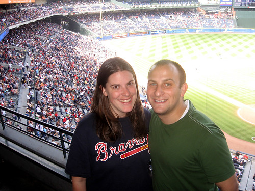 me and joe at braves game