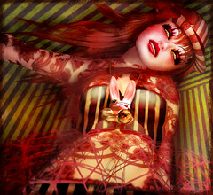 Joy Boho (MiaSnow) Tags: carnival circus stripes sl secondlife clowngirl miasnow