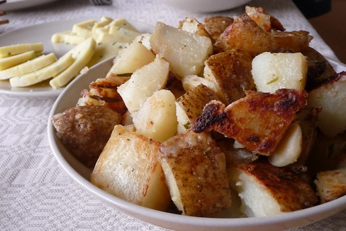 Boiled and Fried Potatoes with Rosemary