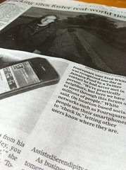 Foursquare in Boston Globe 10/21/10