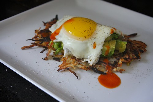 hashbrowns, egg, avocado!