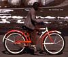 Schwinn in 1948 (centerprairie) Tags: christmas red 1948 bicycle illinois 24 schwinn tuscola balloontire