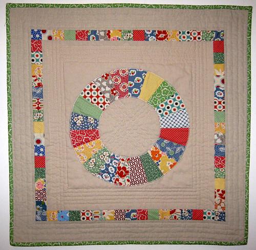 retro mini quilt