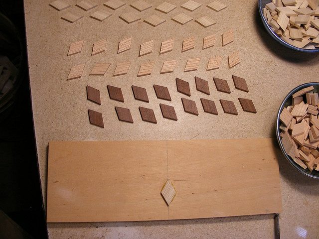 Making a Tumbling Block Cribbage Board #8