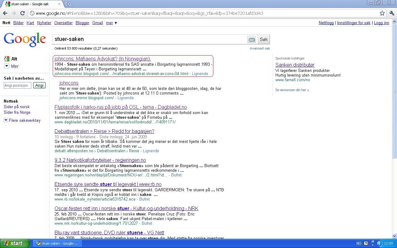 google søk stuer saken