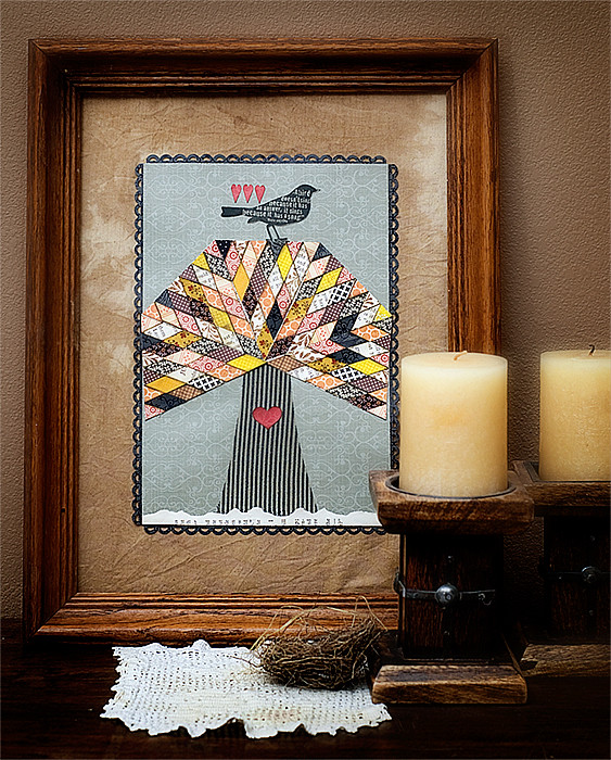 framed fall themed collage