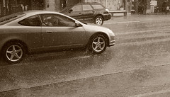 Raindrops keep falling on my head (Mingfong) Tags: street summer rain sepia speed story madison raindrops summertime moment stories iso1600  mingfong reaindrop mingfongjan sketchoflight mingfongphotography