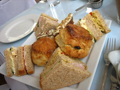 Sandwiches and scones