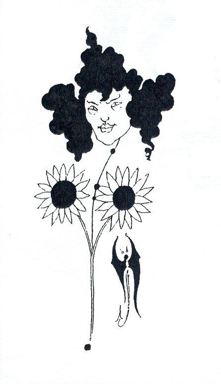 Aubrey Beardsley, Vignette suggesting Oscar Wilde