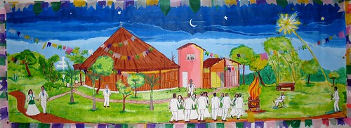 Night of São João at Céu do Planalto (painted by Gervásio)