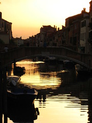 sunset over the grand canal