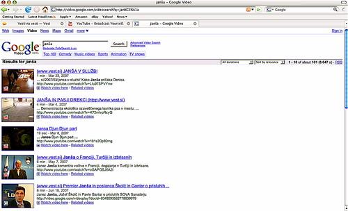 janša na google video